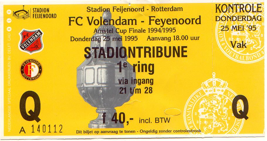 volendam-Feyenoord (bekerfinale)