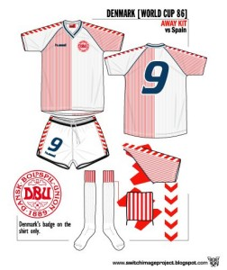 Denmark WC1986 Away