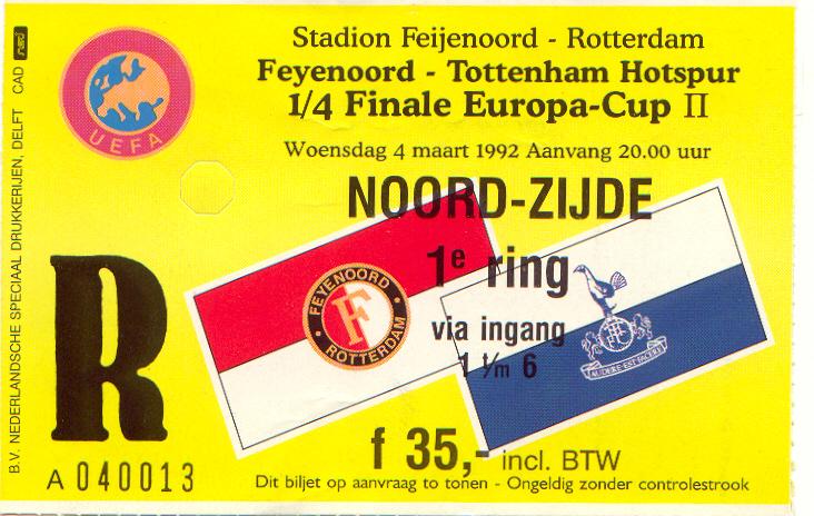 Feyenoord-tottenham hotspur (EC2)